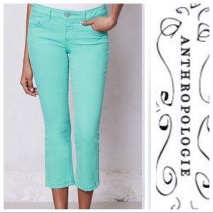 💕SALE💕Anthropologie Pilcro Mint Green Pants